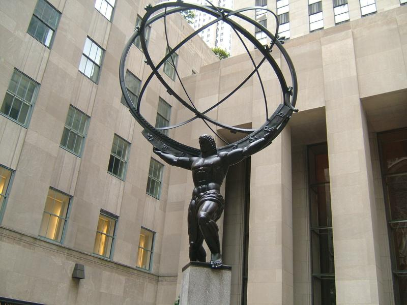 Atlas Statue vor dem Rockefeller Center